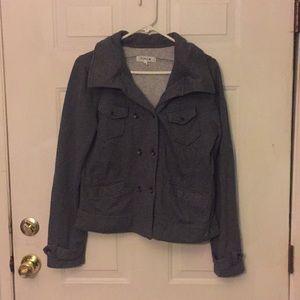 Spring/fall hooded jacket gray